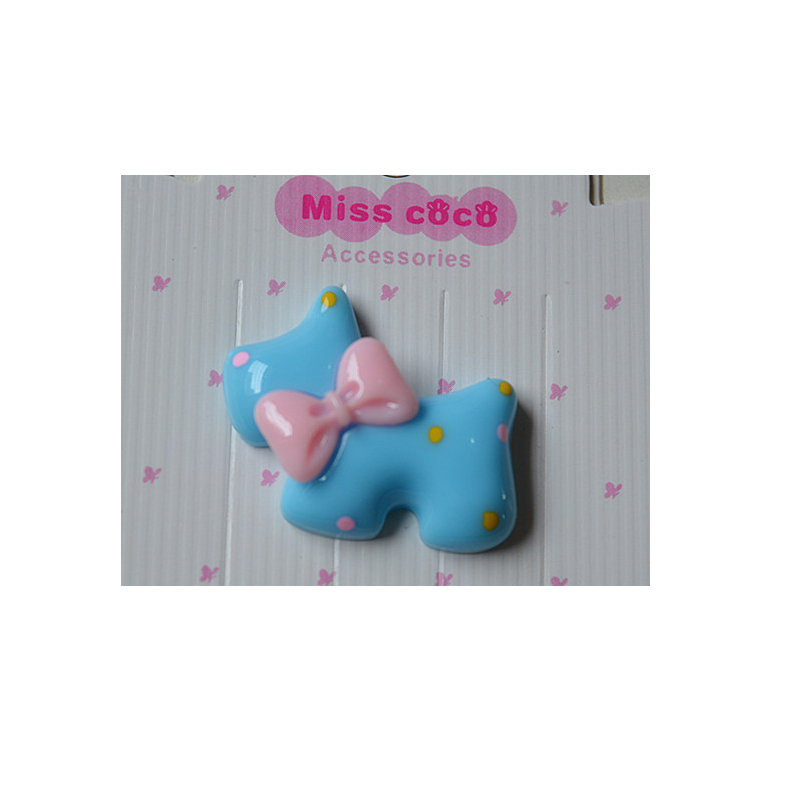 Cute Ribbon and Puppy Hair Pin and Hair Rope Material for Children