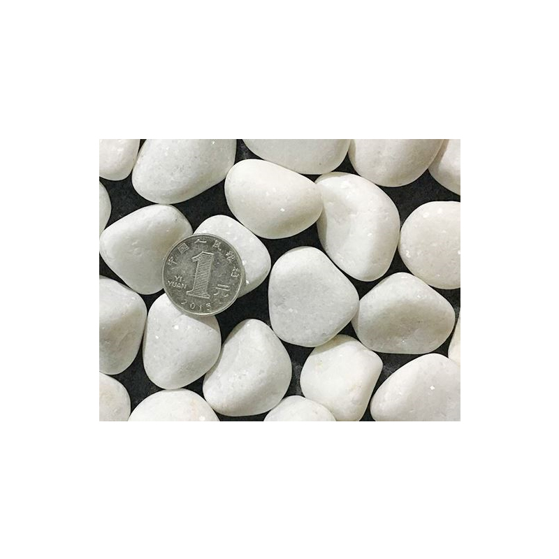 Special White Pebbles for Outdoor Decor