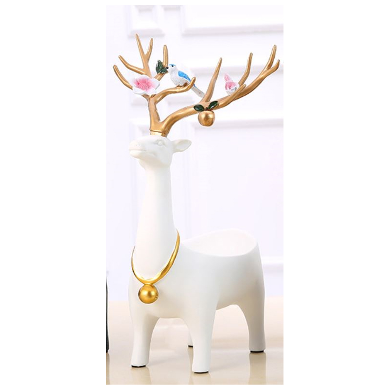 Amusing Resin Deer Tray for Jewelry and Keys