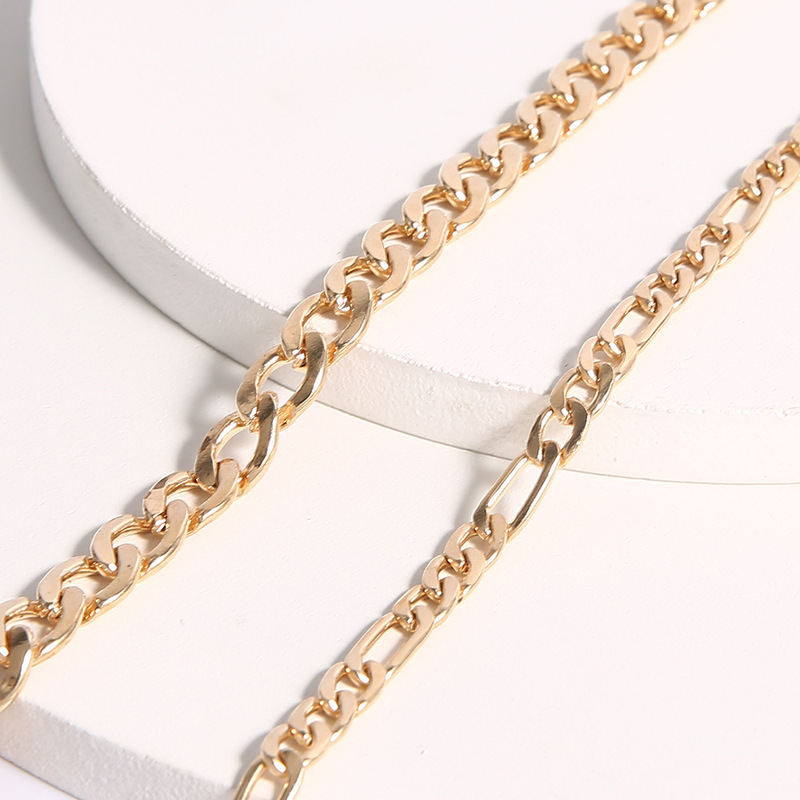 Multiple Golden Chain Anklets for Chic and Trendy Looks