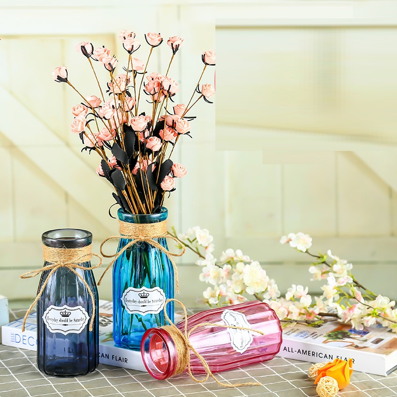 Tinted Glass Statement Vase for Parties