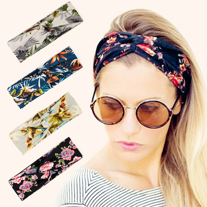 Luscious Flower and Leaves Wraparond Turban for Fun Floral Looks