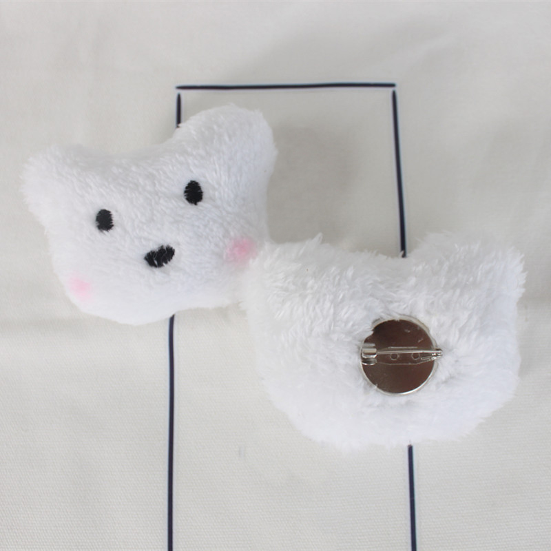 Plush Rabbit and Bear Pin