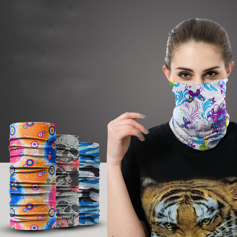 Multi-Pattern and Multi-Use Circular Scarves for Protection Against Dust