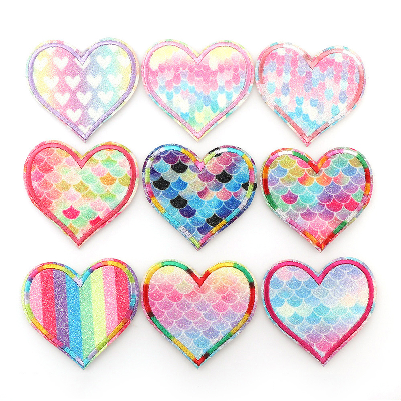 Mesmerizing Love and Happiness Patch Sets for Decorating Bags