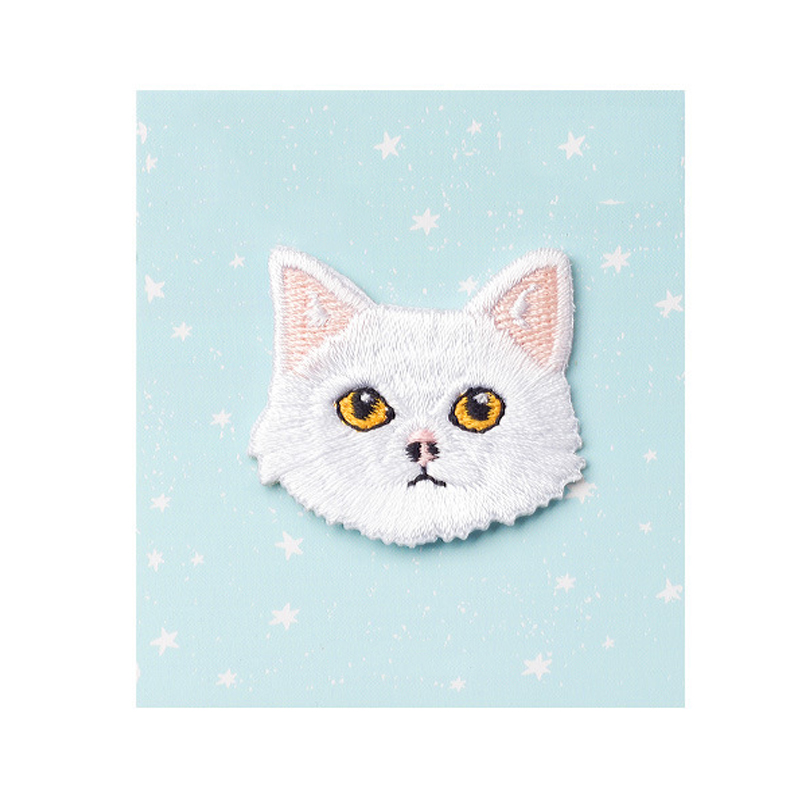 Stoic Embroidered Kitty Patches for Feline-Friendly Outfits