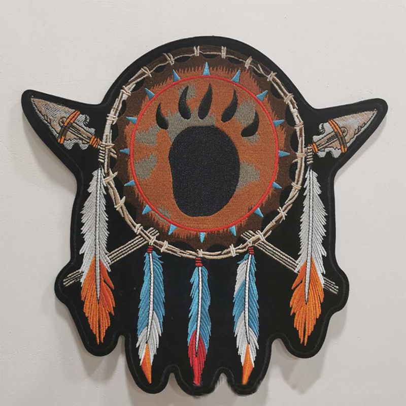 Native Dreamcatcher Patch for Feather-Loving Folks