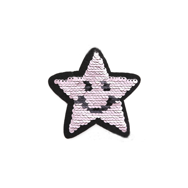 Smiling Sequin Star Patches for Kids' Clothing