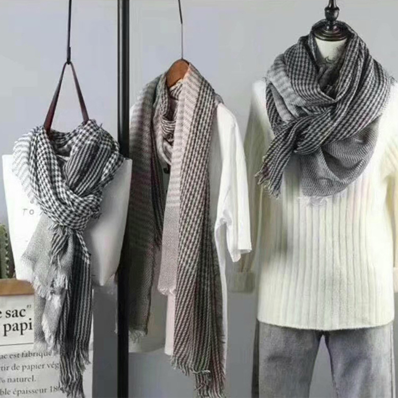 Thick Cotton Patterned Scarves for Distressed Retro Looks