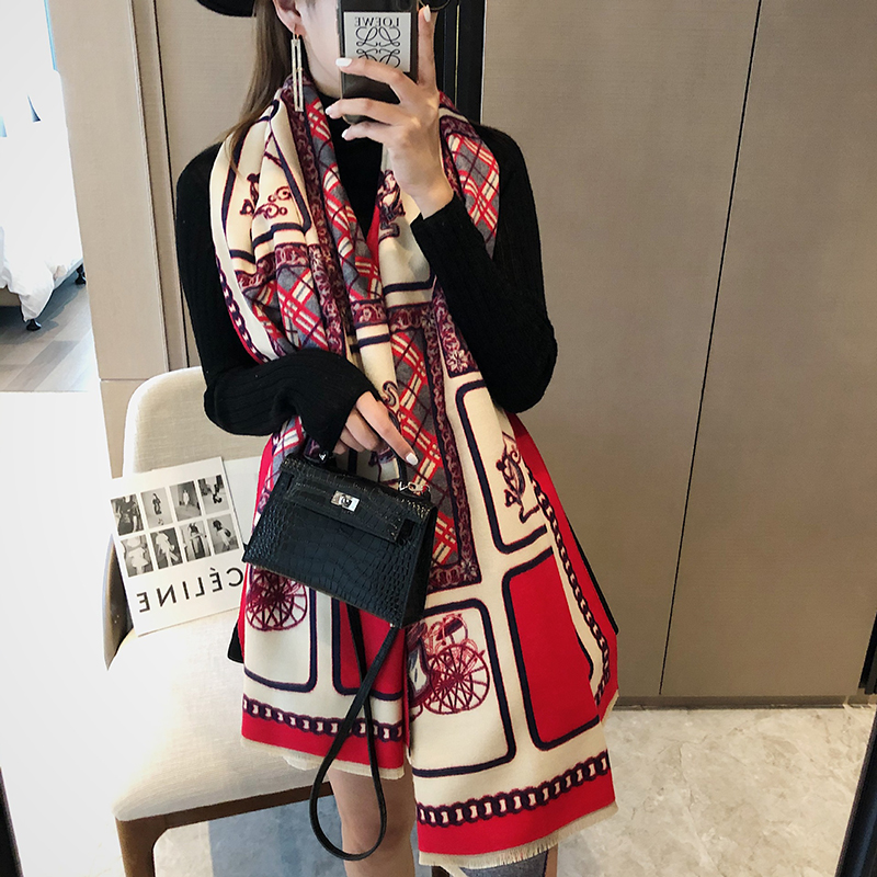 Sophisticated Carriage Print Shawl for Multiple Fashion Styles