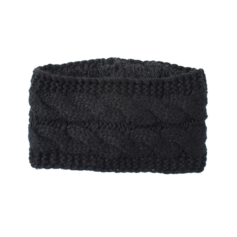 Braided Knit Cloth and Acrylic Headband for Warmth in the Winter
