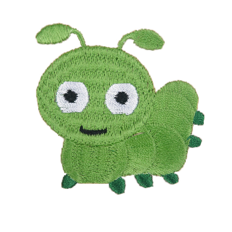 Colored Caterpillar Patches for Children