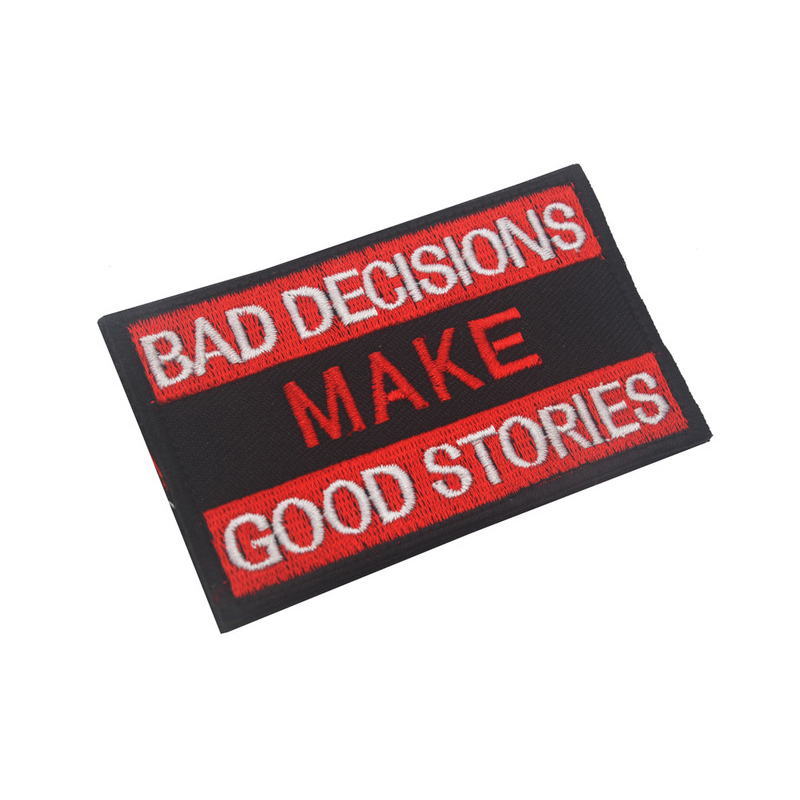 Bad Decisions Statement Patch for Styling Clothes