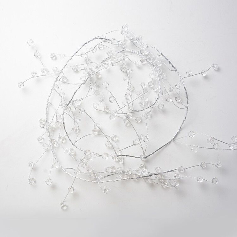 Functional Crystal Bead Strings for Wedding Decoration