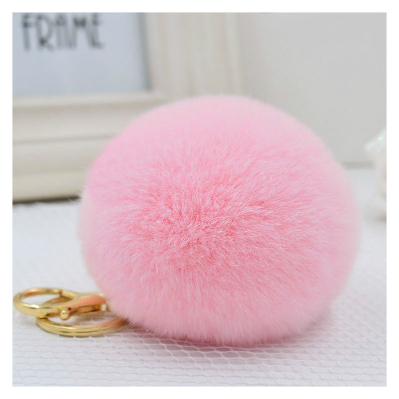 Fluffy Pom Keychain Charm with Buckle for Keeping Your Keys Safe