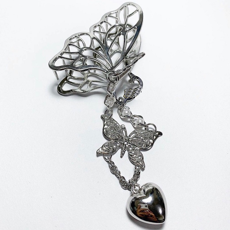 Metallic Butterfly Claw Clip