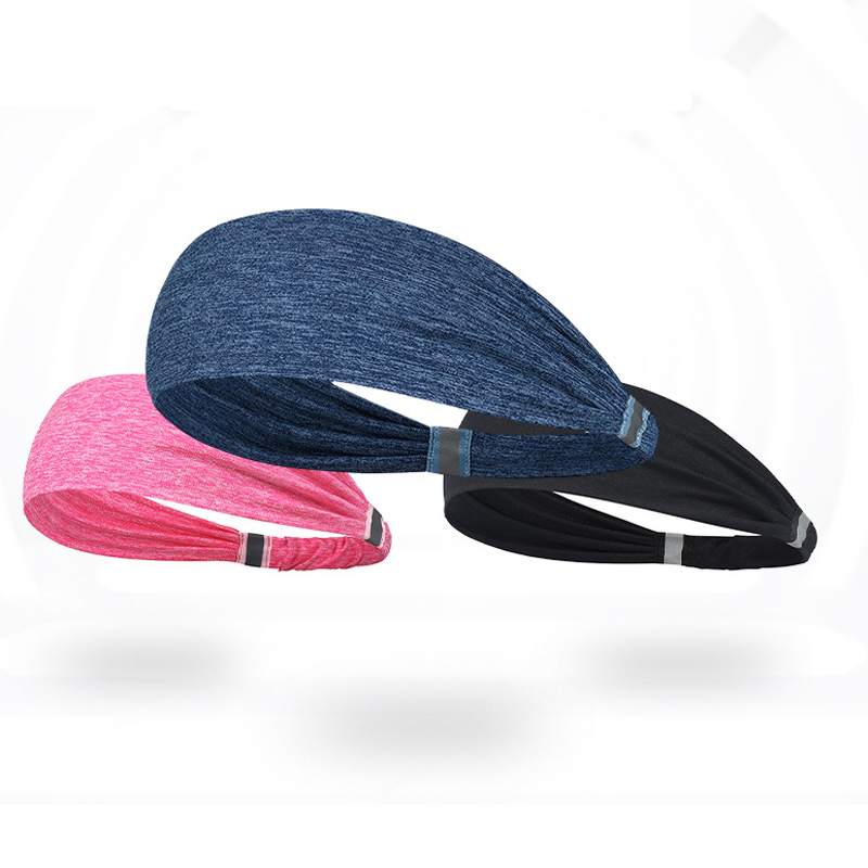 Stretchy and Comfortable Polyester and Spandex Headband for Intense Workout Sessions