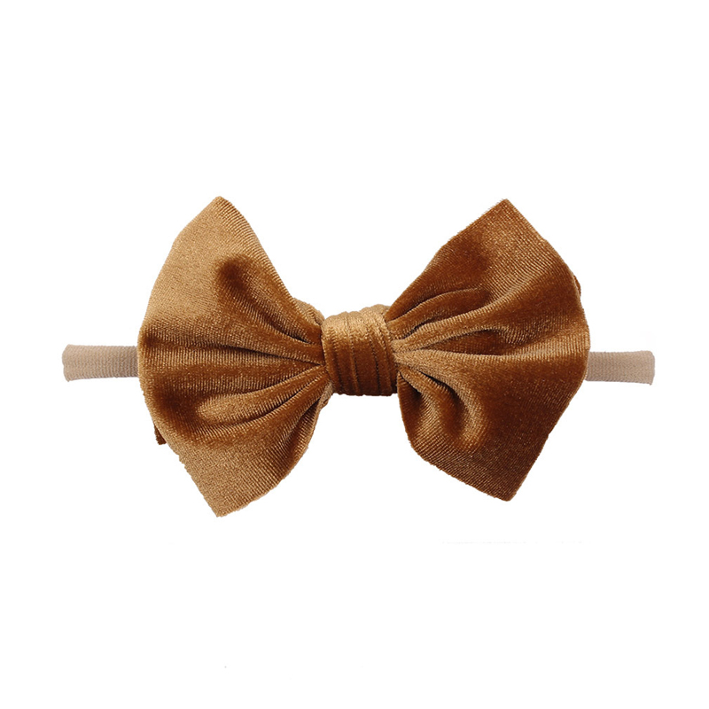 Big Bow Velvet Headband for Keeping Your Baby's Head Unmarked