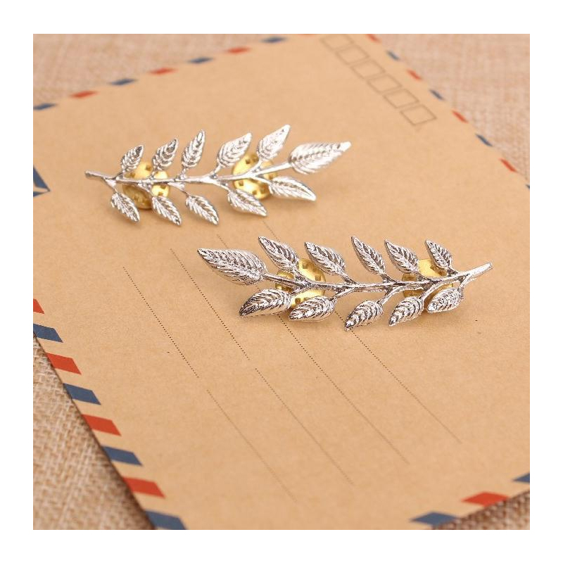 Matching Fern Pins for Dressing Up Collars