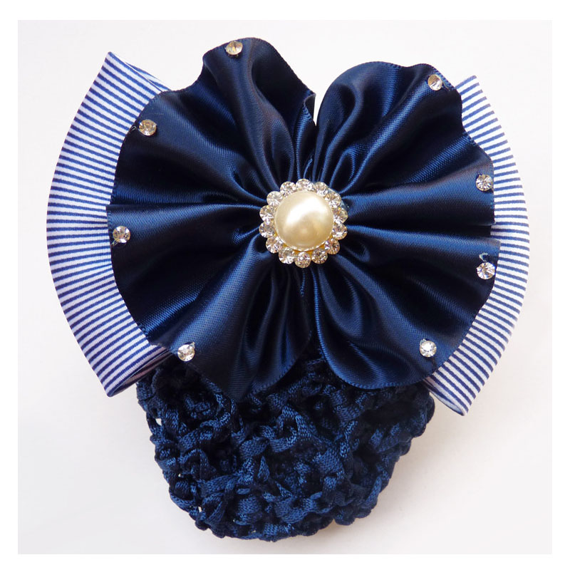 Charming Floral Bow Bun Holder for Neat Updos