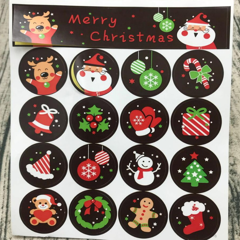 Assorted Christmas Element Sticker for Holiday Season