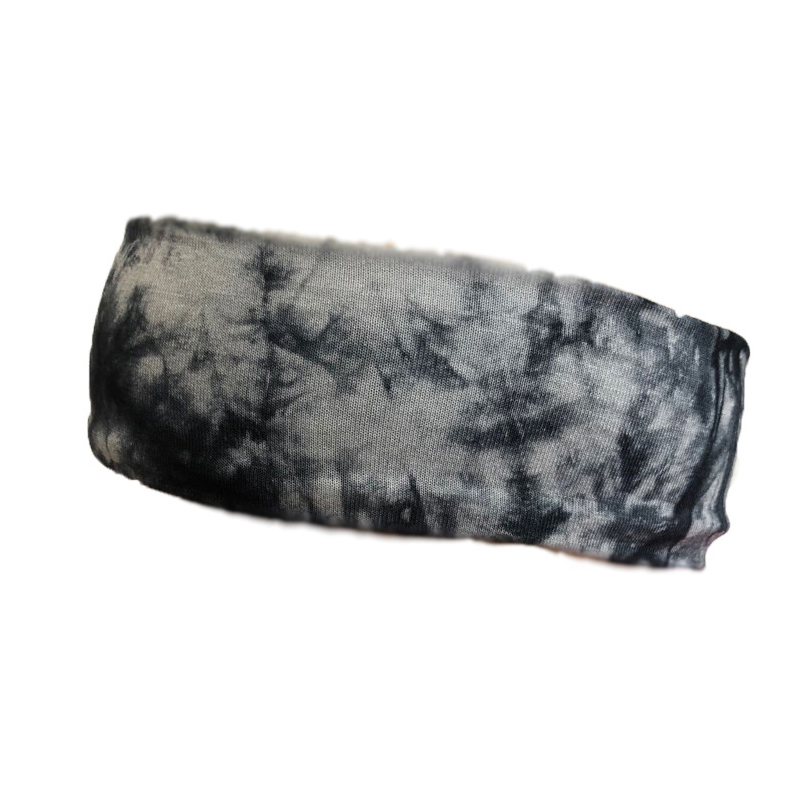 Treated Tie-Dye Exercise Headbands for Fashionable Gym Wear