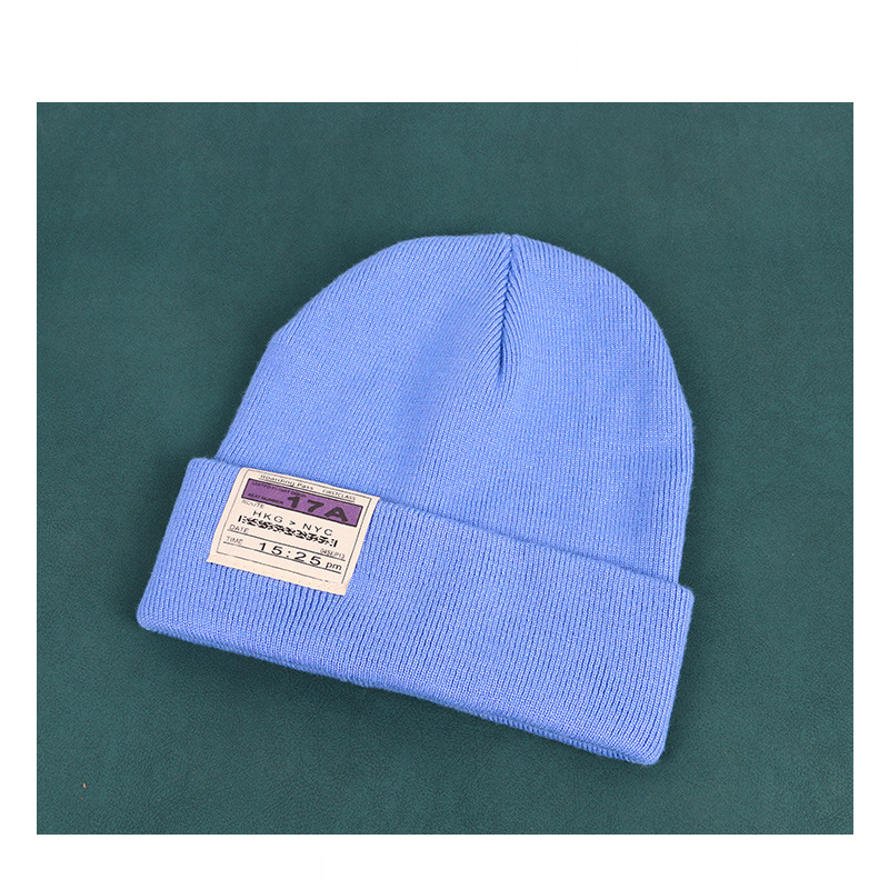 Classic Colored Cuff Beanie for Street Style Fashion