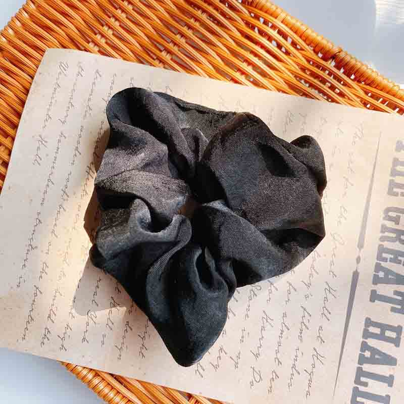 Wide Satin-Like Scrunchie for Girly Hairstyles