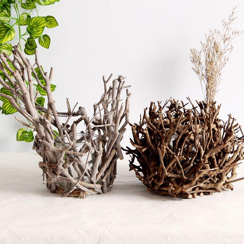 Wooden Branches Decorative Vase Display for Cottage-Themed Homes