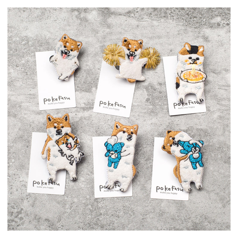 Playful Shiba Inu Patches for Dog Lovers