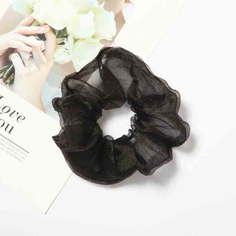 Thin Chiffon Scrunchie for Messy Hairstyles