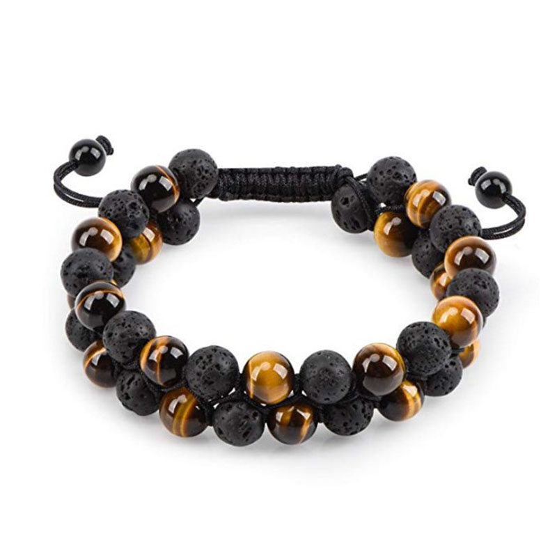 Charming Bead Stone Two-layer Bracelet for Everyday Wear