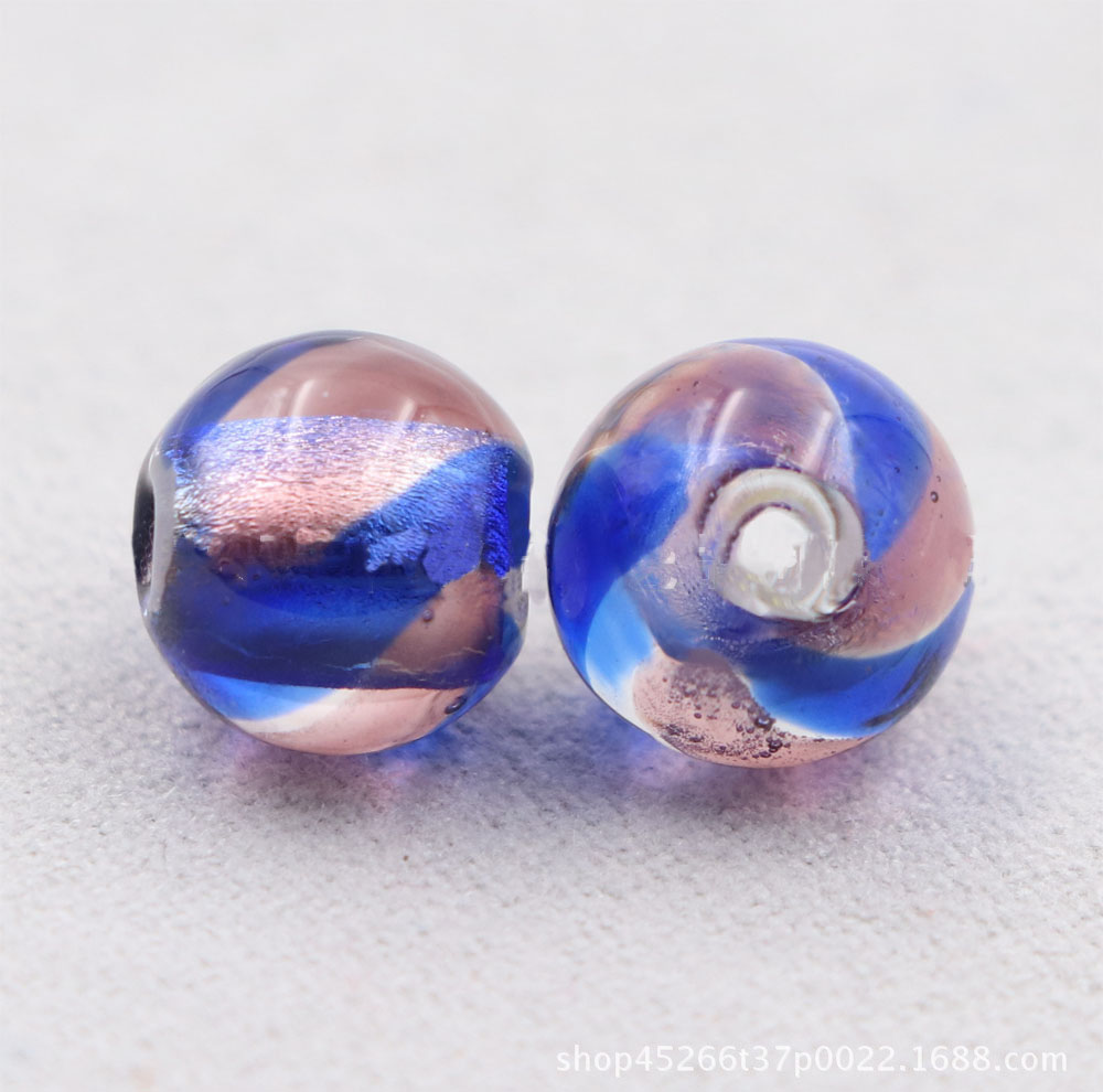 Double Hole Colored Glass Beads for Arts and Crafts