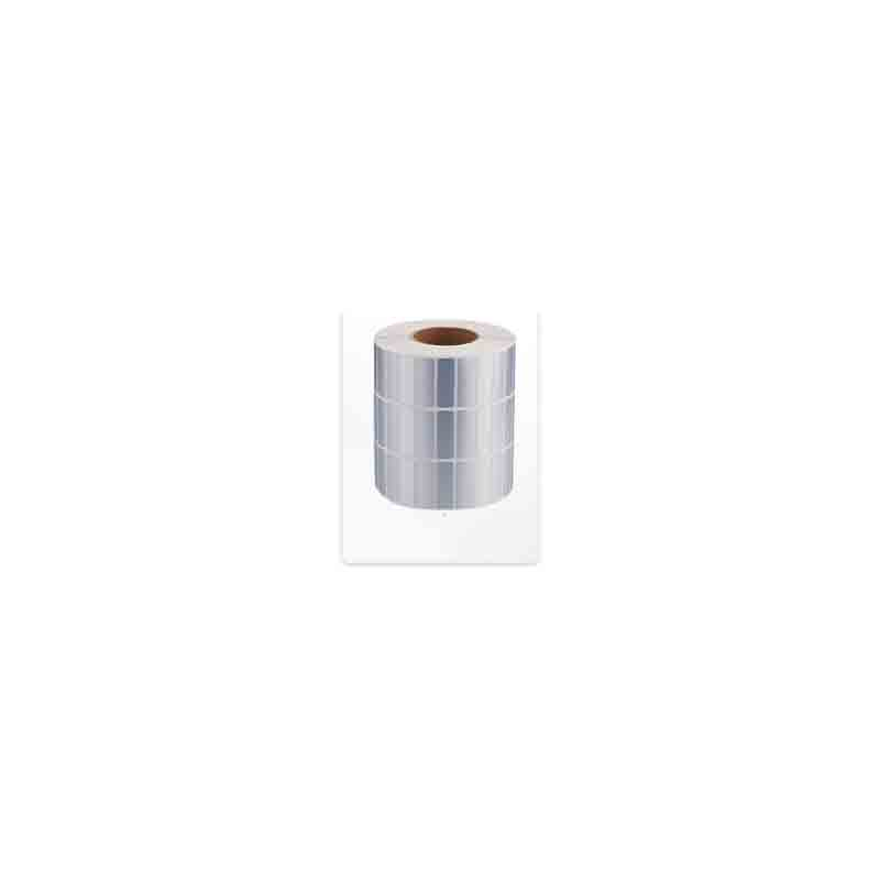 Rounded Rectangle Silver Blank Label Roll for Small Businesses