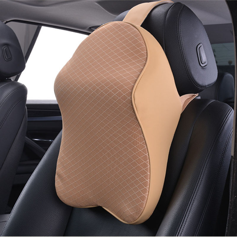 Fancy Polyester Neck Support Pillow for Comfy Car Headrests