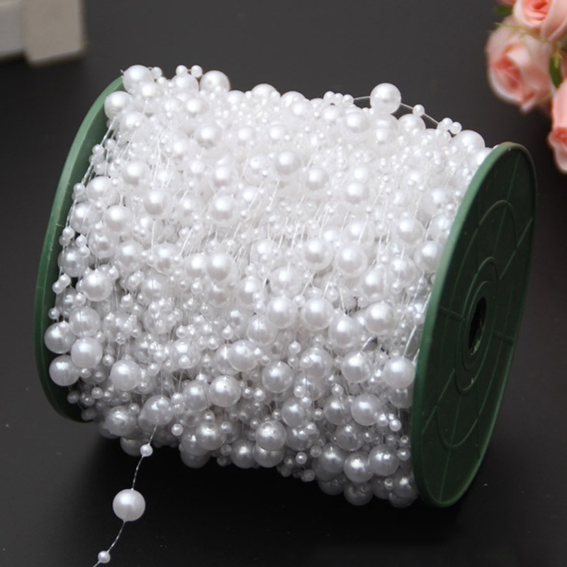 Polished Faux Pearl Bead Strings for Wedding Bouquet