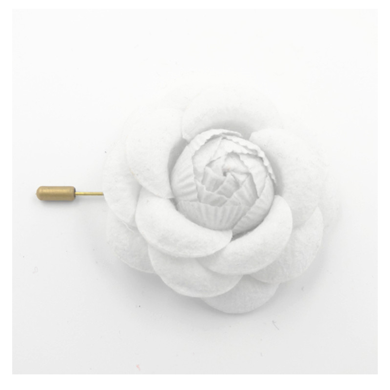 Non-woven Fabric Flower Bud Brooch