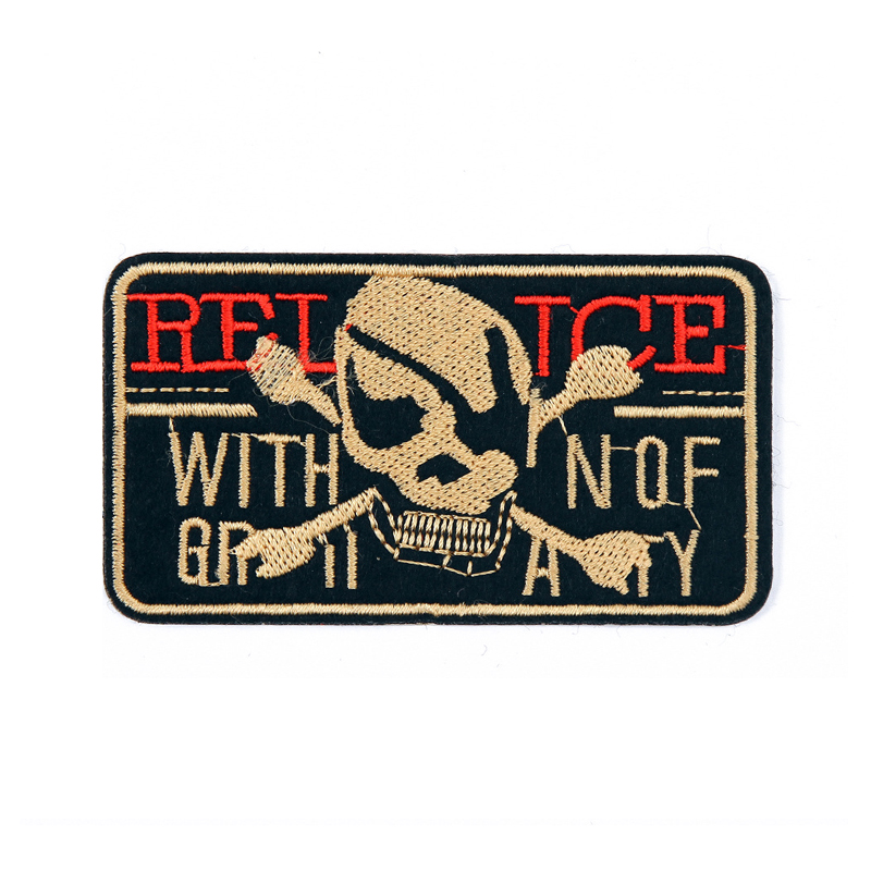Punk Pirate-Themed Patches for Edgy Outfits