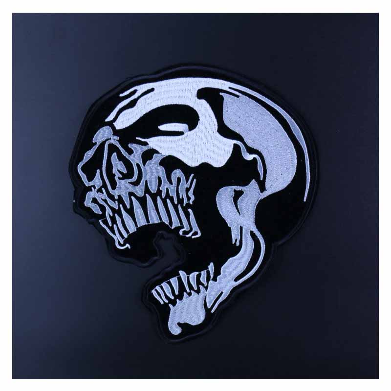 Detailed Skull Patch for Rock Music Lover