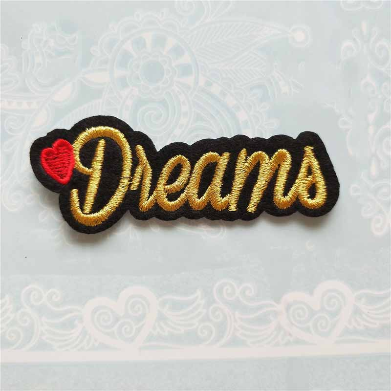 Cursive Dreams Embroidered Patch for DIY Clothing