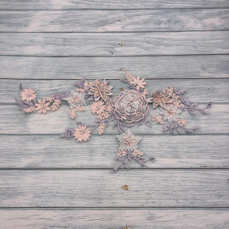 Dainty Floral Applique for Dressing Up Gowns