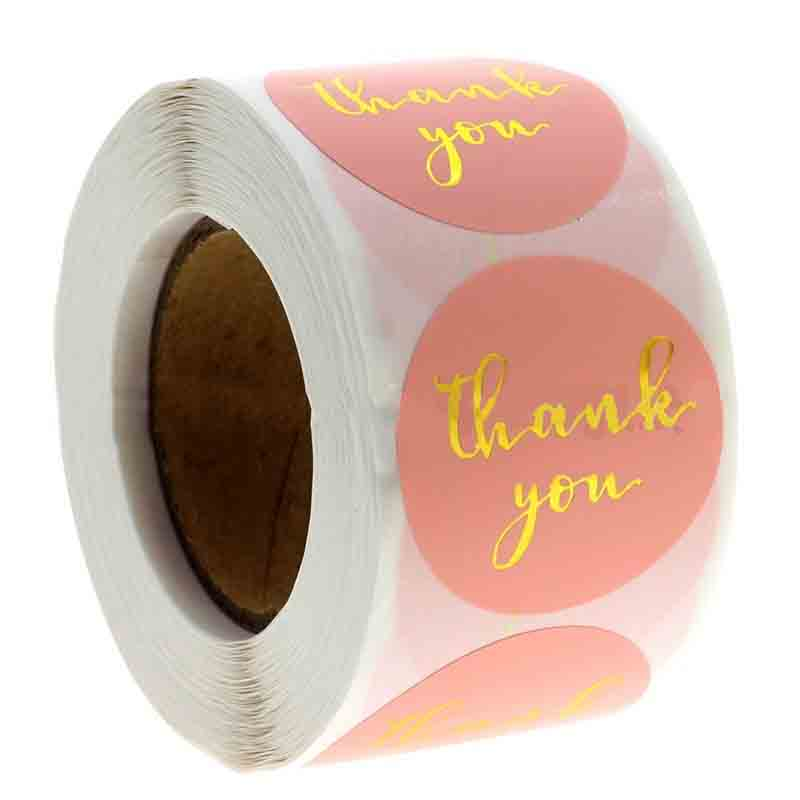Pretty Thank You Sticker for Gift Decorations