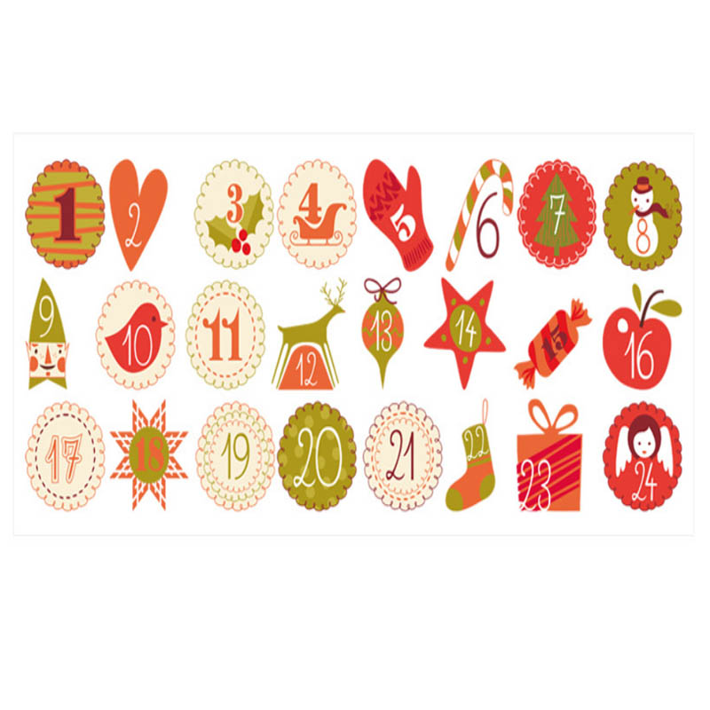Christmas Themed Stickers for Holiday Gifts