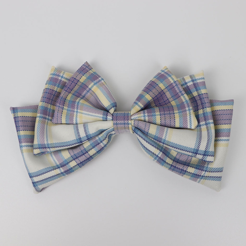 Adorable Plaid Bow Hair Pin for Women