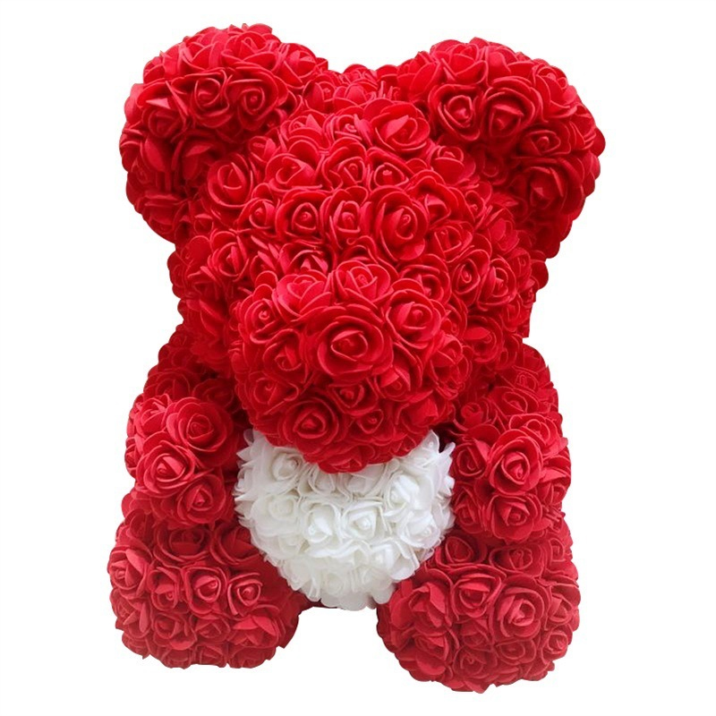 Sweet Floriated Teddy Bear for Valentines