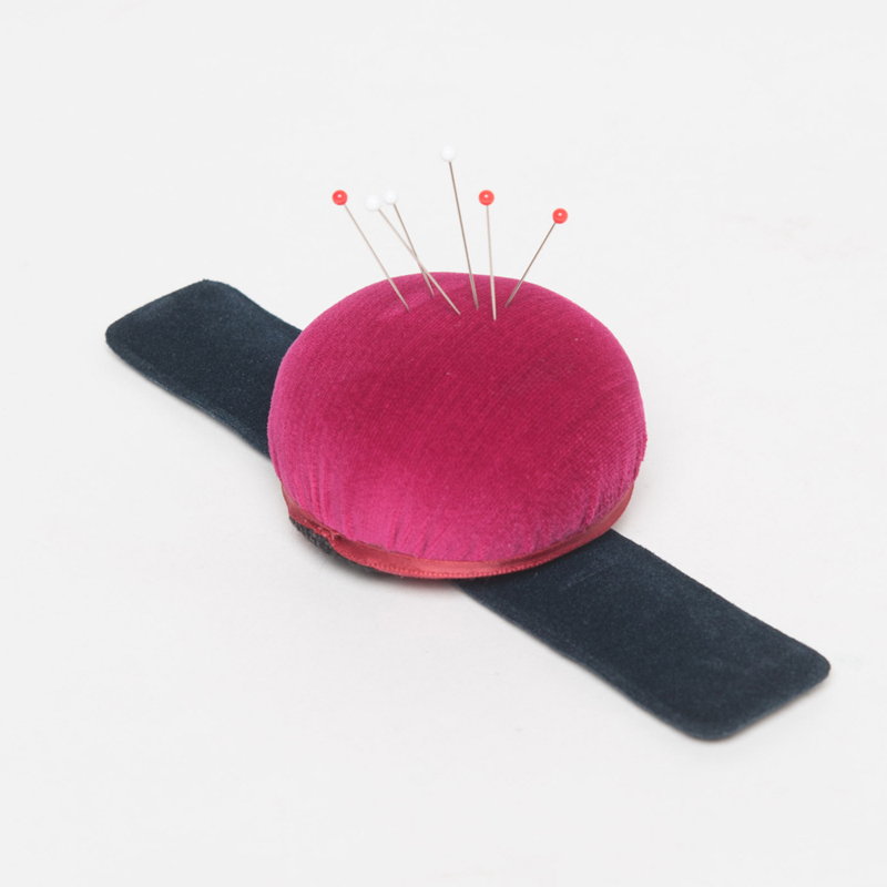 Plain Round Red Pin Cushion for Sewing