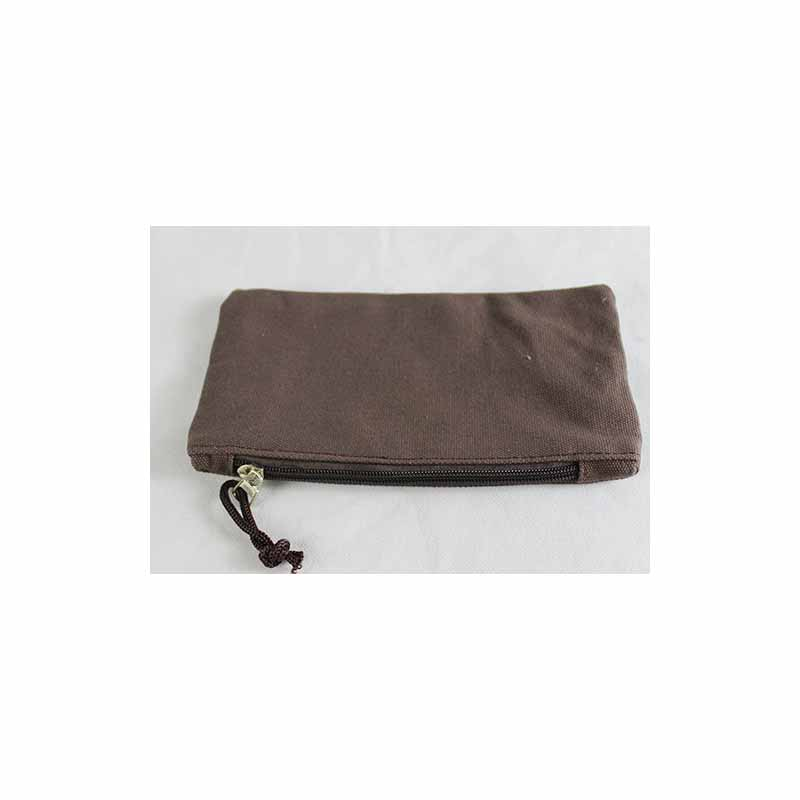 Plain Rectangular and Zippered Pencil Case for Adults