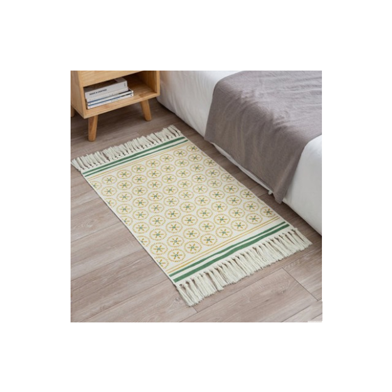 Retro Patterns with Tassels Floor Mat
