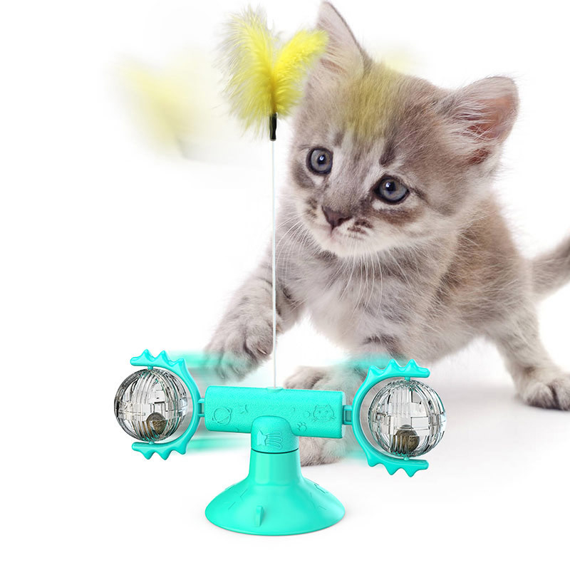 Balls and Feathers Cat Toy