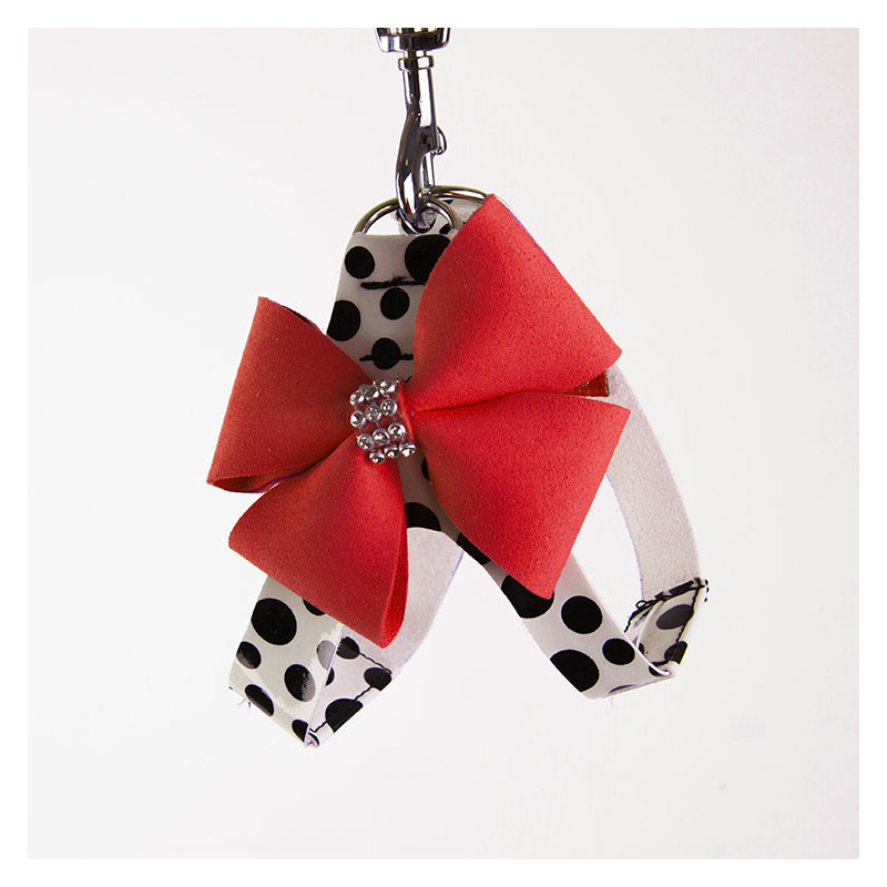 Ribbon and Leopard Print Pet Chest Harness